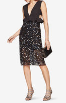 BCBGMAXAZRIA Rosalina Sequined Peplum Dress