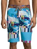 Robert Graham Samarinda Multi-Printed Regular-Fit Shorts