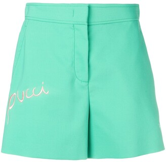Emilio Pucci Logo Embroidered Shorts