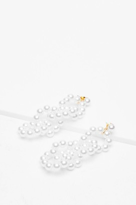 Nasty Gal Womens You Got This Pearl-Inpsired Drop Earrings - Gold
