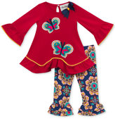 Rare Editions 2-Pc. Butterflies Top & Printed Leggings Set, Baby Girls (0-24 months)