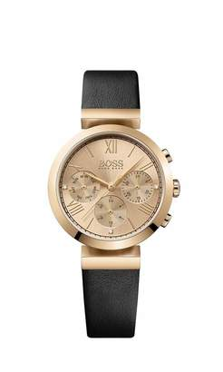 HUGO BOSS 1502397 Women Chronograph Quartz Watch with Leather Bracelet
