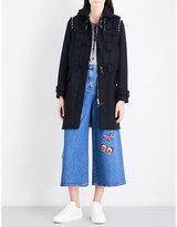 Valentino Rockstud wool-felt duffel coat