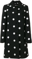 Moschino giant polka dot patterned coat - women - Polyester/Spandex/Elastane - 42