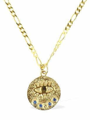 Hermina Athens Kressida Grecian Chain Necklace W/ Charm