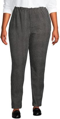 Lands' End Petite Plus Size Sport Knit High-Rise Corduroy Pull-On Pants