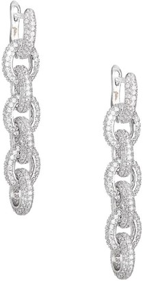 Fallon Pave Chain Link Drop Earrings