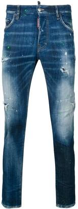 DSQUARED2 acid wash skinny jeans