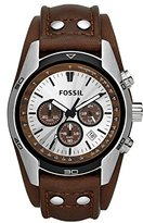Fossil Men's CH2565 Cuff Chronograph Tan Leather Watch