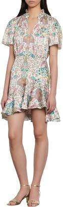 Sandro Iren Floral Print Minidress