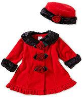 Starting Out Baby Girls 3-24 Months Faux-Fur Fleece Flower Button Coat