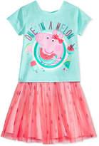 Peppa Pig Nickelodeon's 2-Pc. Graphic-Print T-Shirt & Printed Skirt Set, Toddler Girls