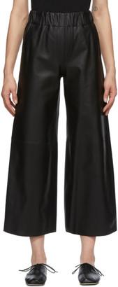Loewe Black Lambskin Cropped Trousers