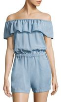 Splendid Off-The-Shoulder Chambray Romper