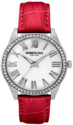 Kenneth Cole New York Women's Classic Red Leather Watch, 39.5mm