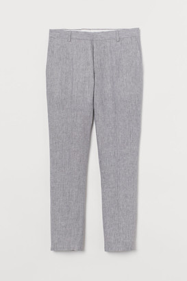 H&M Slim Fit Linen Suit Pants - Beige