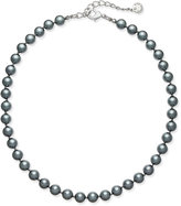 Charter Club Silver-Tone Gray Imitation Pearl Collar Necklace, Only at Macy's