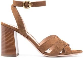 Gianvito Rossi Beya suede criss-crossed sandals