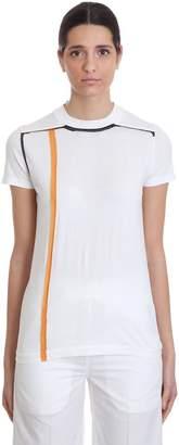 Drkshdw Ss Crew Level T-shirt In White Cotton