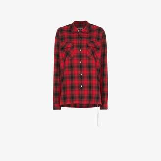 Mastermind Japan logo print check shirt