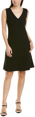 Oscar de la Renta Crepe Wool-Blend Shift Dress