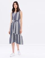 Warehouse Wrap Peplum Dress