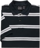 Jos. A. Bank Traveler Striped Short Sleeve Patterned Polo Big/Tall