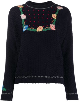 Vilshenko Floral-Pattern Knit Jumper