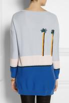 Band Of Outsiders Pool-intarsia merino wool sweater