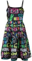 Moschino neon sign dress - women - Silk/Rayon - 44