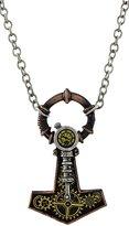 Alchemy Gothic Steamhammer Steampunk Thor`s Hammer Mjollnir Necklace