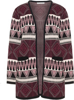 Studio Plus Size Printed open front cardigan