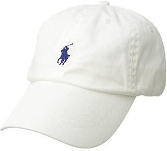 Polo Ralph Lauren Classic Chino Cap (White/Marlin Blue) Caps