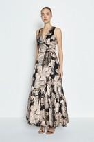 Coast V-Neck Dirndl Hem Maxi Dress