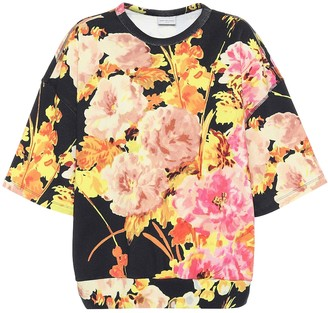 Dries Van Noten Floral cotton short-sleeved sweatshirt