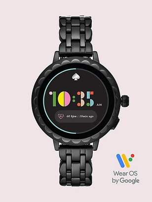 Kate Spade Black Stainless Steel Scallop Smartwatch 2