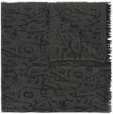 Salvatore Ferragamo lettering print scarf