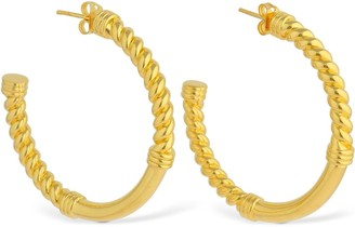 Missoma Cord Medium Hoop Earrings