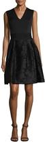 Carolina Herrera Women's V-Neck Pleated Dress