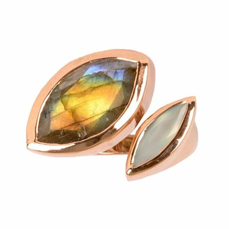 Neola Celestine Rose Gold Ring Labradorite