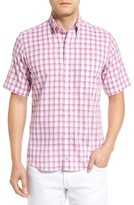Tailorbyrd Men's Regular Fit Short Sleeve Windowpane Sport Shirt