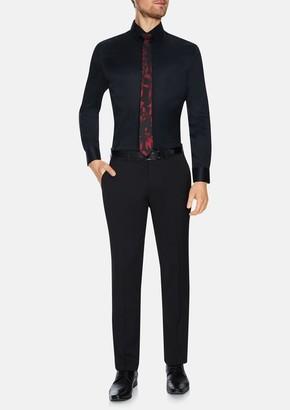 TAROCASH Black Toby Slim Stretch Dress Shirt