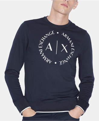 Armani Exchange Men Circular Logo Sweater