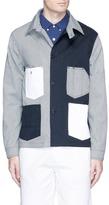 MAISON KITSUNÉ Stripe patchwork worker jacket