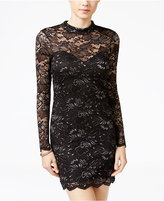 Material Girl Juniors' Open-Back Lace Bodycon Dress, Only at Macy's
