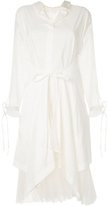Shanshan Ruan Draped Shirt Dress