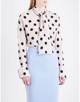 Natasha Zinko Polka dot-print silk blouse