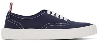 Thom Browne Navy Heritage Vulcanized Sneakers