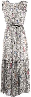 M Missoni Silk Waist-Tied Midi Dress