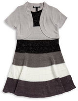 Planet Gold Girls 7-16 Mock Layer Sweater Dress